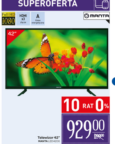 carefour manta led tv 929 zł