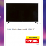 Lidl:tV SHARP SMART TV ULTRA HD  55BJ2E 55 CALI ZA 1699 ZŁ