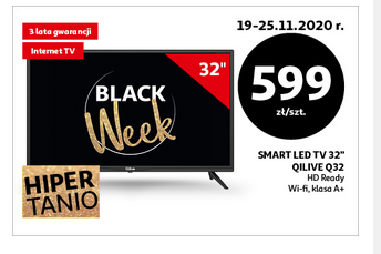 Auchan:TV 32 CALE qiLIVE WIFI i smart tv za 599 zł